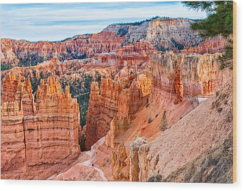 Wood Print featuring the photograph Sunset Point Tableau by John M Bailey