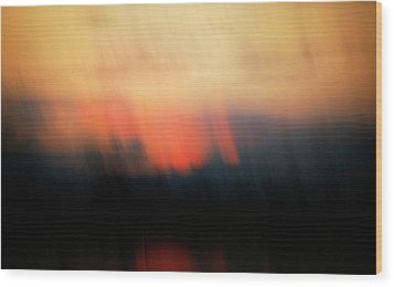 Wood Print featuring the photograph Sunset Raining Down by Marilyn Hunt