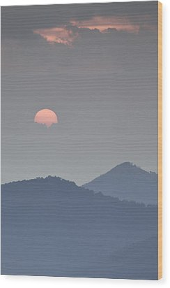 Sunset Repition - Blue Ridge Parkway Sunset Scene Wood Print by Rob Travis