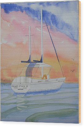 Sunset Sail 2 Wood Print by Warren Thompson
