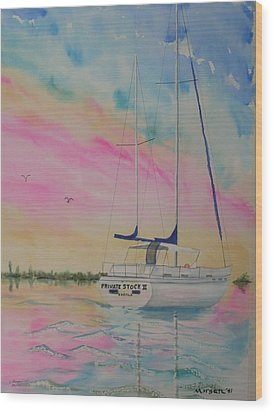 Sunset Sail 3 Wood Print by Warren Thompson