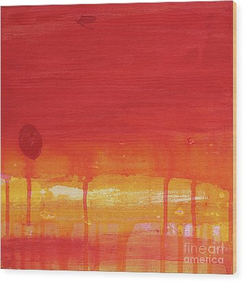 Sunset Series Untitled II Wood Print by Nickola McCoy-Snell