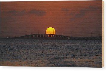 Sunset Seven Mile Bridge Wood Print