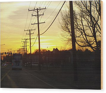 Wood Print featuring the photograph Sunset by Shirin Shahram Badie