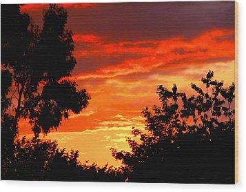 Sunset Sky Wood Print by Duke Brito