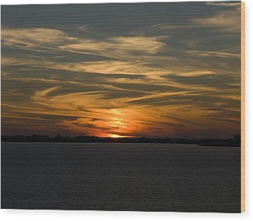 Sunset Sky Wood Print by Phil Stone