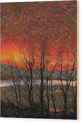 Sunset Soliloquy Wood Print by Ed Hall