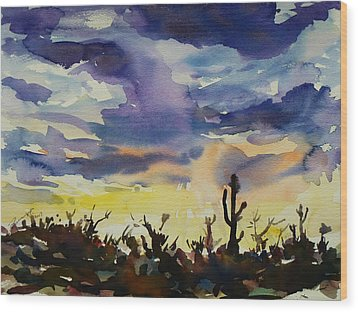 Sunset Sonora Wood Print by Xueling Zou