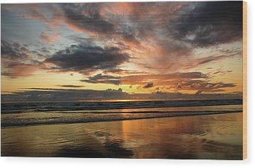 Sunset Split Wood Print