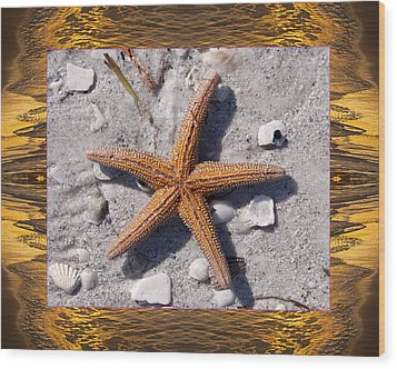 Wood Print featuring the photograph Sunset Starfish by Bell And Todd