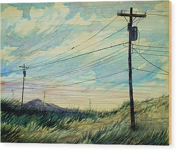 Sunset Wood Print by Stephen Boyle