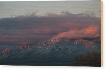 Sunset Storm On The Sangre De Cristos Wood Print