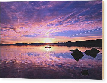 Sunset Supper Wood Print