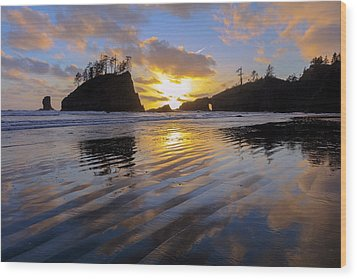 Wood Print featuring the photograph Sunset Symphony by Mike Lang