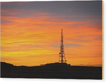 Sunset Tower Wood Print by RKAB Works