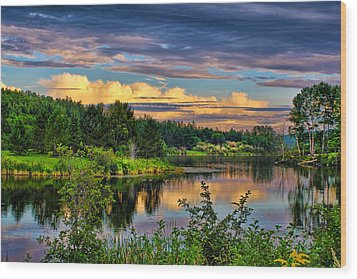 Wood Print featuring the photograph Sunset View by Gary Smith
