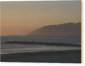 Sunset View Over The Pacific Ocean Wood Print by Stacy Gold