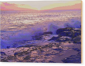 Sunset, West Oahu Wood Print
