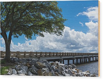 Sunshine And Clouds Wood Print by Gregg Southard