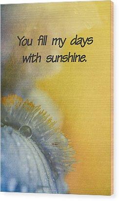 Sunshine Wood Print