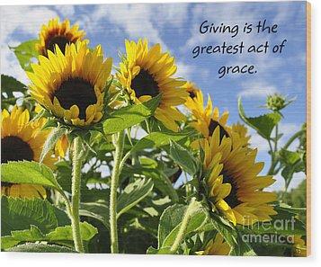 Wood Print featuring the photograph Sunshine Lollipops Grace by Diane E Berry