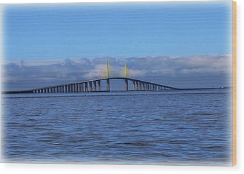 Sunshine Skyway Wood Print