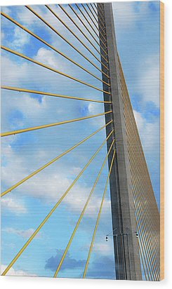 Sunshine Skyway Bridge Angle Wood Print