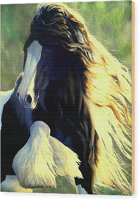 Sunstruck Vanner Wood Print by Ruanna Sion Shadd a'Dann'l Yoder
