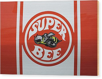Wood Print featuring the photograph Super Bee Emblem by Mike McGlothlen