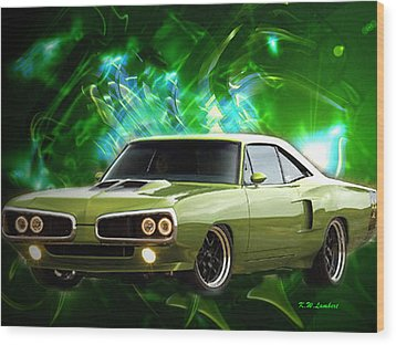 Super Bee Wood Print by Kenneth Lambert