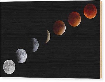 Super Blood Moon Eclipse Wood Print