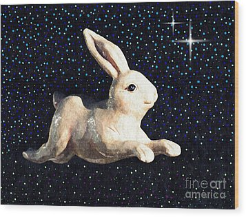 Super Bunny Wood Print