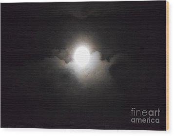 Super Moon 1 Wood Print