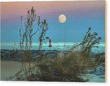 Super Moon 2016 Wood Print by Jerry Gammon