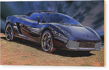 Super Speed Wood Print