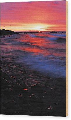 Superior Sunrise Wood Print