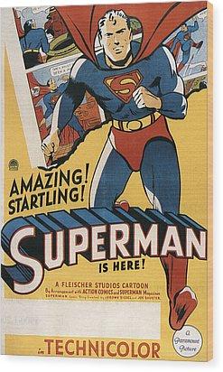 Superman, 1941 Wood Print by Everett
