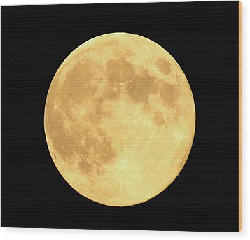 Supermoon Full Moon Wood Print by Kyle West