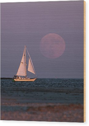 Supermoon Two Wood Print by John Loreaux