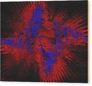 Wood Print featuring the digital art Supernova by Charmaine Zoe