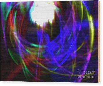 Supernova Wood Print by Xn Tyler