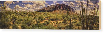 Superstition Mountain And Wilderness Wood Print