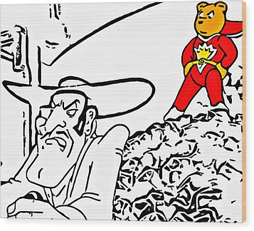 Superted And Texas Pete Wood Print by Rpics Rpics