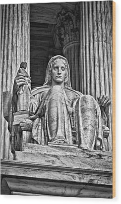 Supreme Court Building 13 Wood Print by Val Black Russian Tourchin