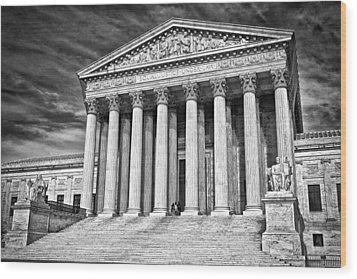 Supreme Court Building 2 Wood Print by Val Black Russian Tourchin