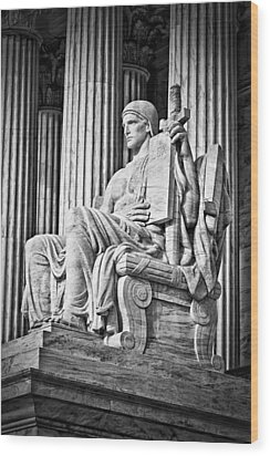 Supreme Court Building 4 Wood Print by Val Black Russian Tourchin