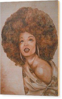 Miss Diana  Wood Print