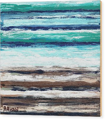 Surf And Turf Wood Print