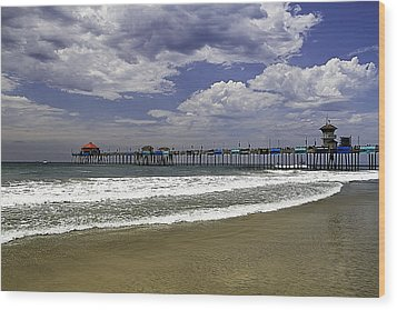 Wood Print featuring the photograph Surf City Pier by Ron Dubin