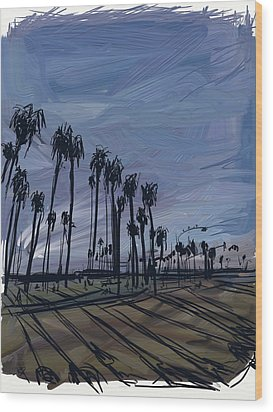 Surf City Wood Print by Russell Pierce